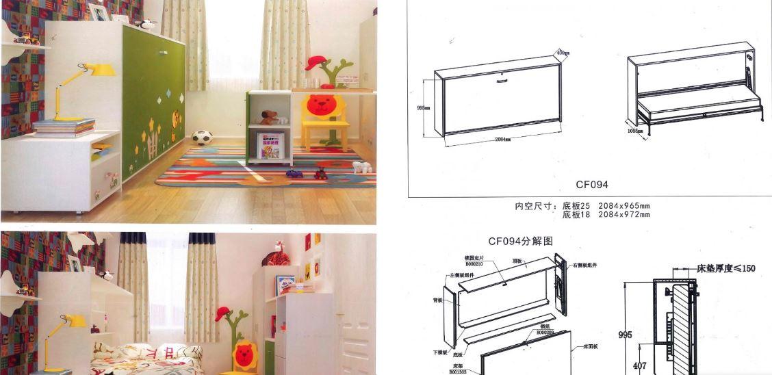Phụ kiện giường xếp thông minh, cấu tạo và mẫu giường xếp