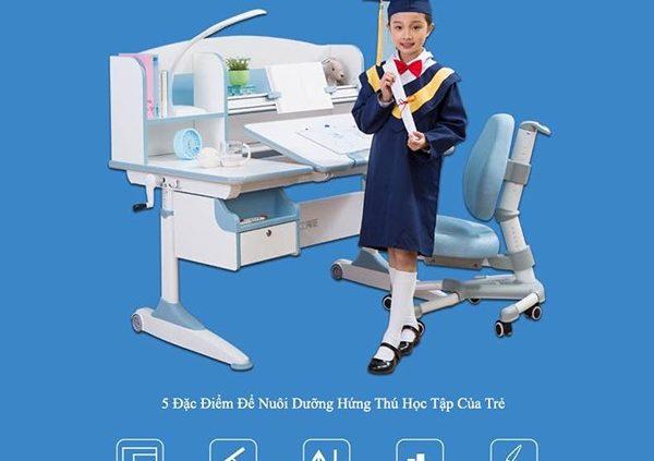 (chú thích ảnh: 5 Đặc điểm giúp bé có hứng thú trong học tập hơn của bàn học thông minh)